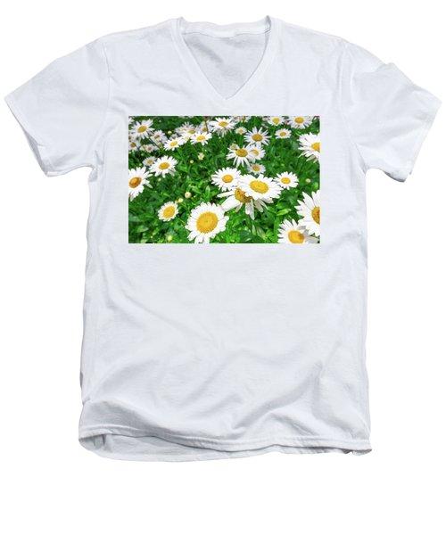 Daisy Garden Men's V-Neck T-Shirt