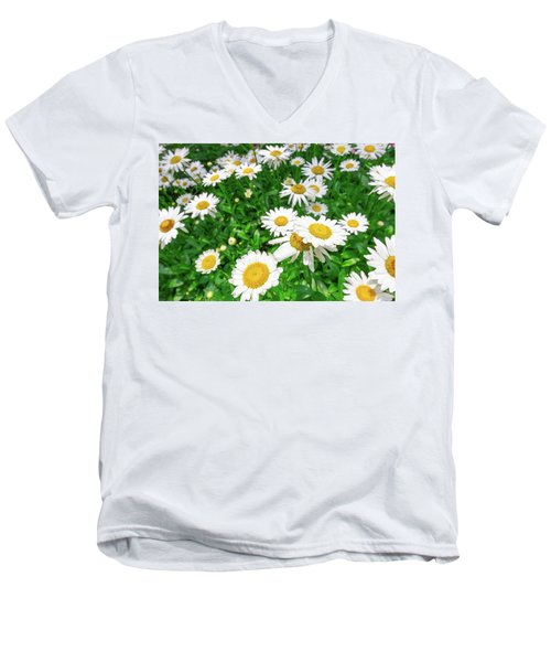 Daisy Garden Men's V-Neck T-Shirt