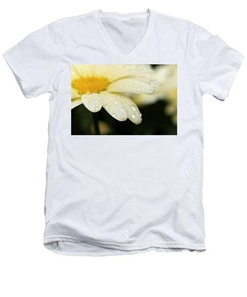 Daisy In Spring Men's V-Neck T-Shirt by Angela Rath