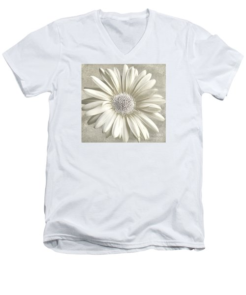 Daisy Men's V-Neck T-Shirt by Jim  Hatch