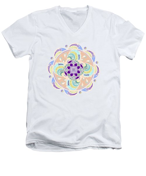 Daisy Lotus Meditation Men's V-Neck T-Shirt