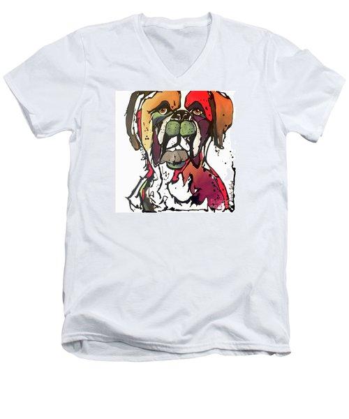 Daisy Men's V-Neck T-Shirt by Nicole Gaitan