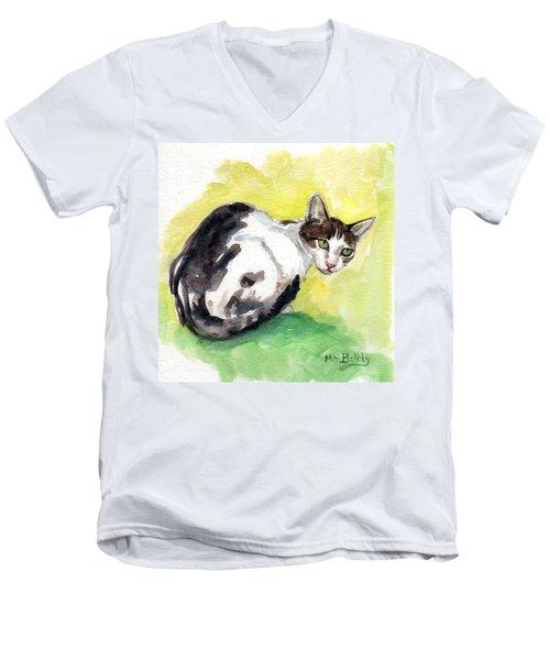Daisy Or Little Singer Men's V-Neck T-Shirt
