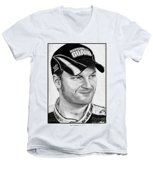 Dale Earnhardt Jr In 2009 Men's V-Neck T-Shirt