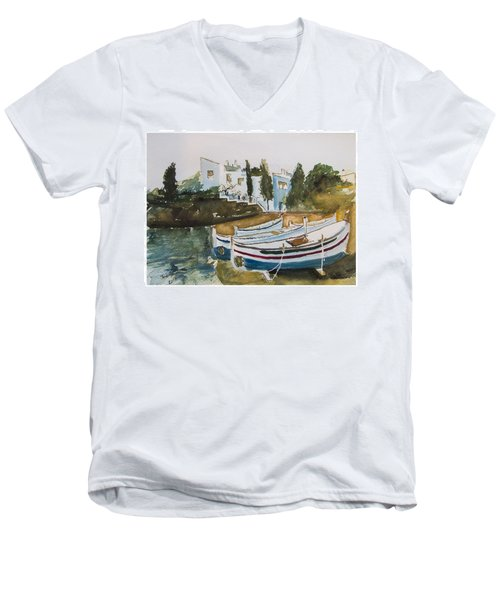 Dali House From Portlligat Men's V-Neck T-Shirt