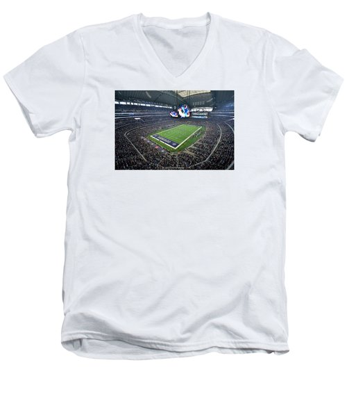 Dallas Cowboys Att Stadium Men's V-Neck T-Shirt