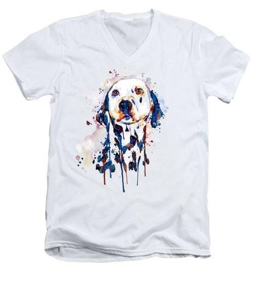 Dalmatian Head Men's V-Neck T-Shirt