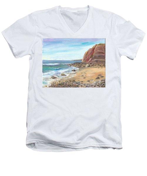 Dana Point Beach Men's V-Neck T-Shirt