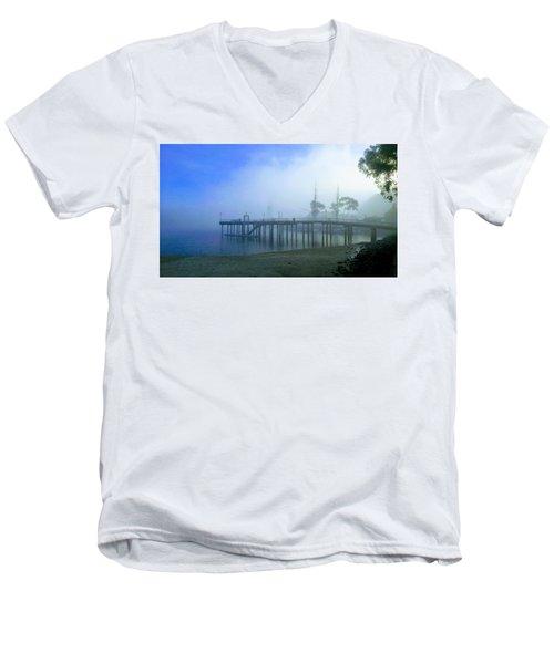 Dana Point Harbor When The Fog Rolls In Men's V-Neck T-Shirt
