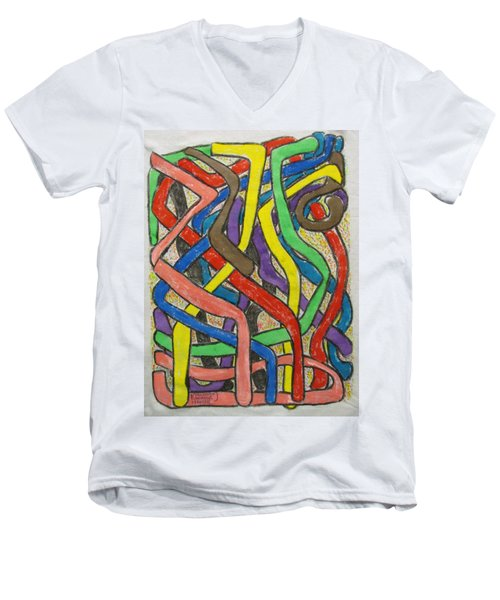 London Bus Routes Men's V-Neck T-Shirt
