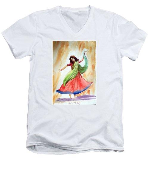 Dance Of Abandon Men's V-Neck T-Shirt