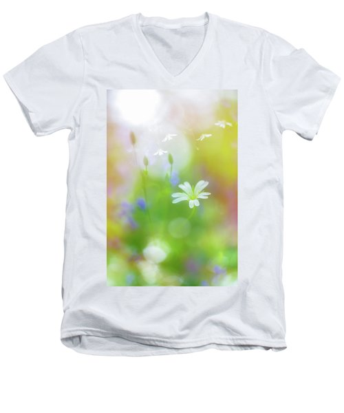 Dance Of The Nature Spirits Men's V-Neck T-Shirt