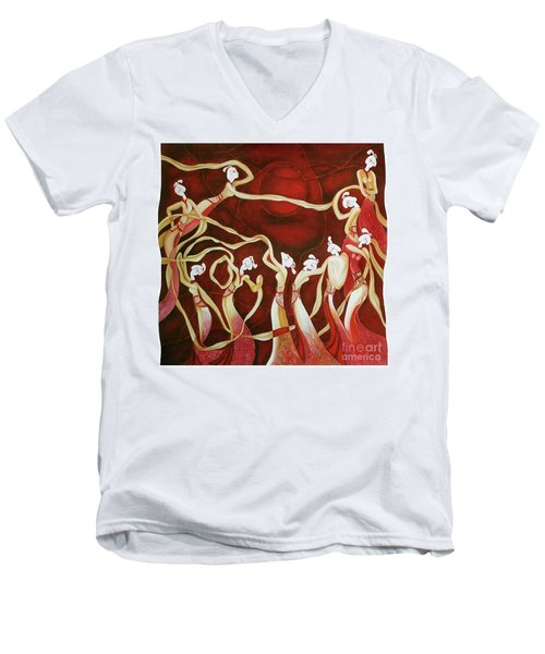 Dance With The Wind Men's V-Neck T-Shirt