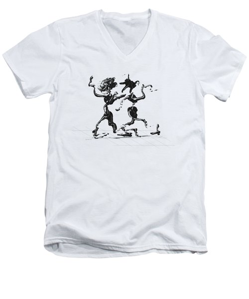 Dancing Couple 1 Men's V-Neck T-Shirt