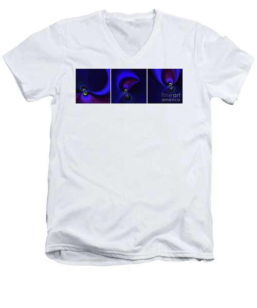 Dancing Men's V-Neck T-Shirt by Elaine Hunter