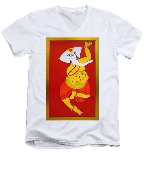 Dancing Ganesha Men's V-Neck T-Shirt