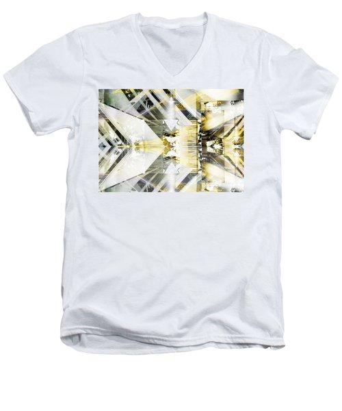 Dancing Lines Men's V-Neck T-Shirt
