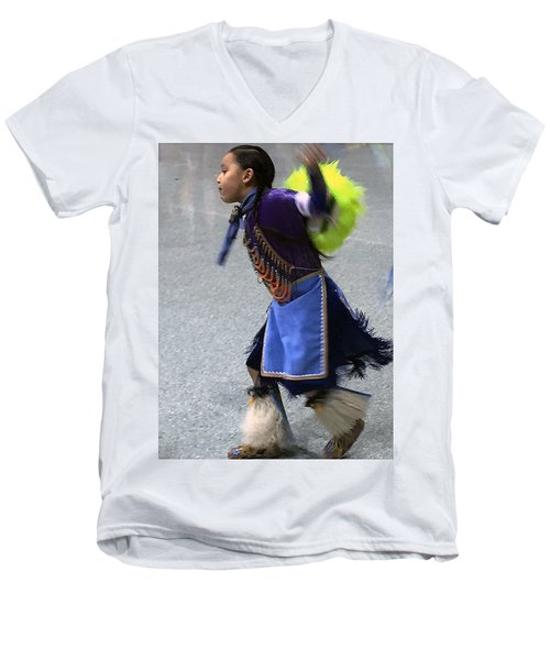 Dancing Native Child Men's V-Neck T-Shirt