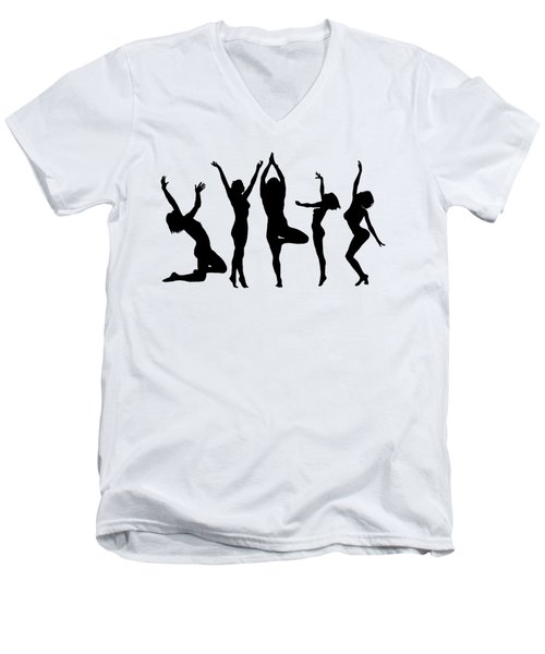 Dancing Silhouettes Men's V-Neck T-Shirt