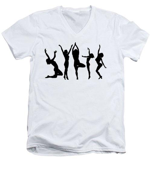Dancing Silhouettes Men's V-Neck T-Shirt