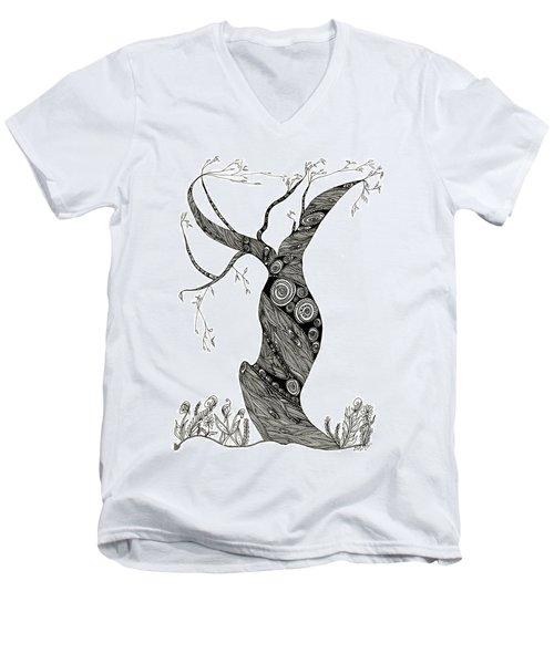 Dancing Tree Men's V-Neck T-Shirt