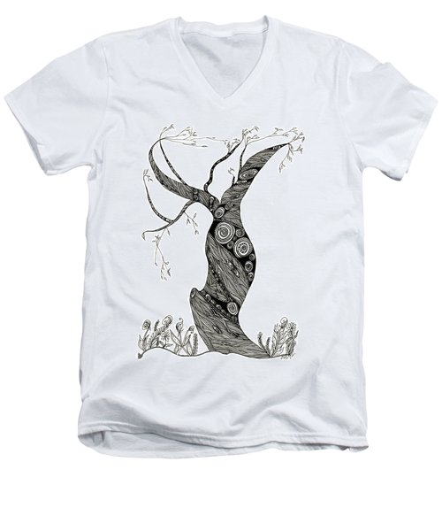 Dancing Tree Men's V-Neck T-Shirt