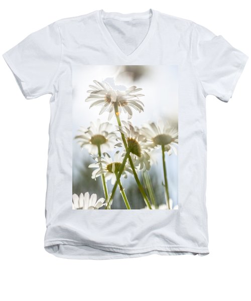 Men's V-Neck T-Shirt featuring the photograph Dancing With Daisies by Aaron Aldrich