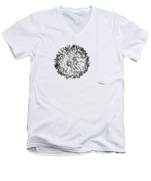 Men's V-Neck T-Shirt featuring the photograph Dandelion by Ludwig Keck