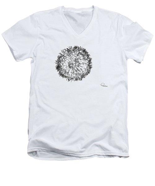 Dandelion Men's V-Neck T-Shirt by Ludwig Keck