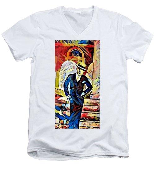 Dapper Dude Men's V-Neck T-Shirt