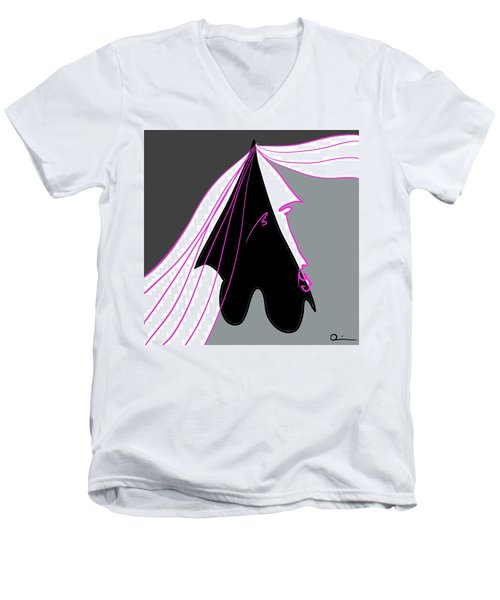 Dark Men's V-Neck T-Shirt