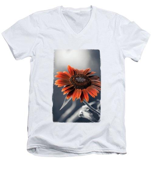 Dark Sunflower Men's V-Neck T-Shirt by Konstantin Sevostyanov