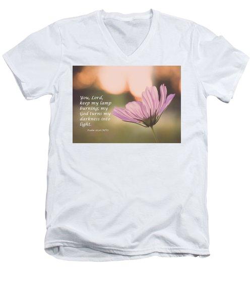 Darkness Into Light Men's V-Neck T-Shirt