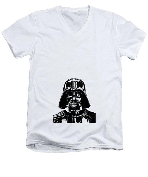 Darth Vader Painting Men's V-Neck T-Shirt by Edward Fielding