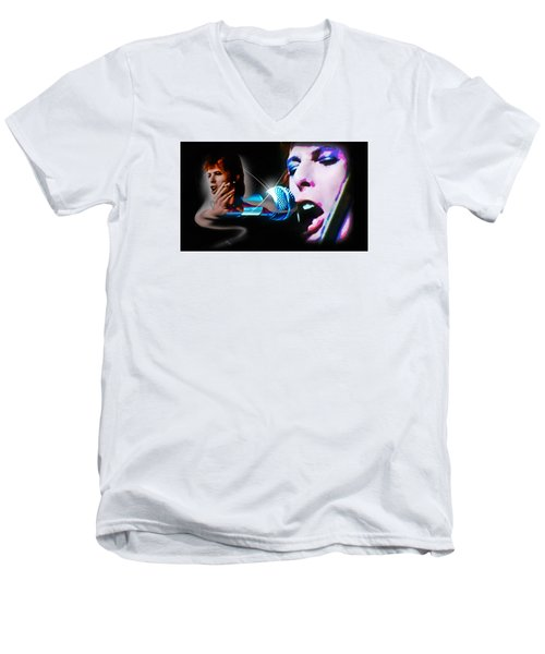 David Bowie  - Jean Genie Men's V-Neck T-Shirt