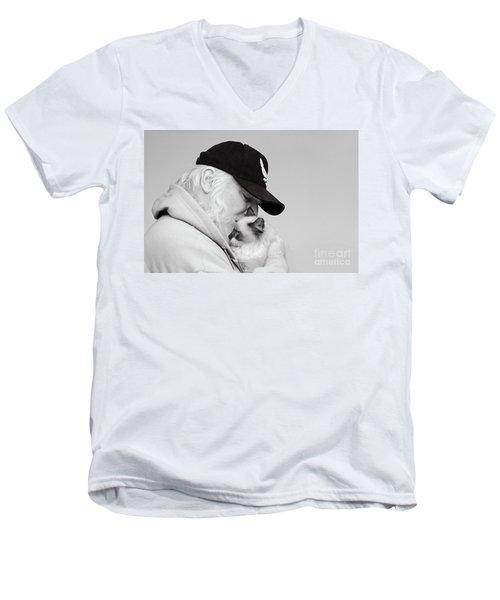 David Bw Men's V-Neck T-Shirt