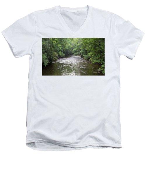 Davidson River In North Carolina Men's V-Neck T-Shirt