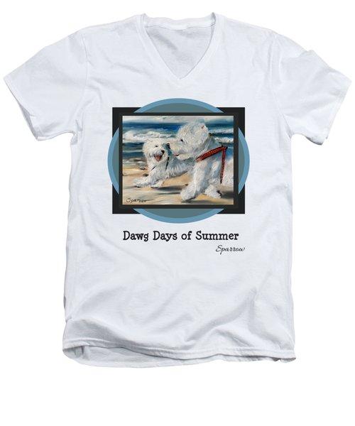 Dawg Days Of Summer Men's V-Neck T-Shirt