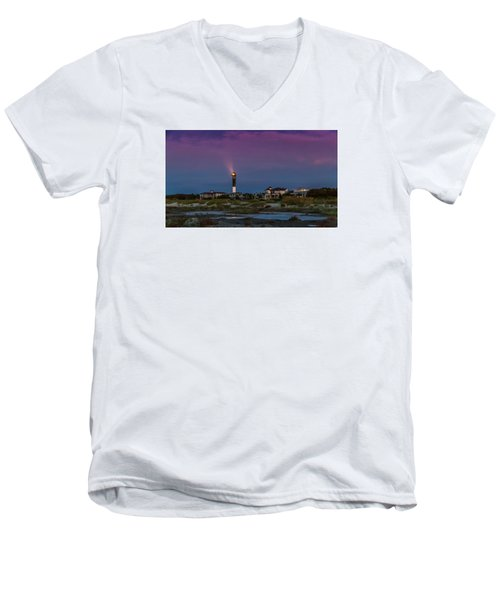 Dawn On Sullivan's Island Sc Men's V-Neck T-Shirt