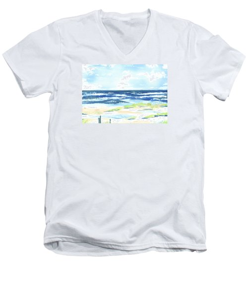 Day At The Beach Men's V-Neck T-Shirt