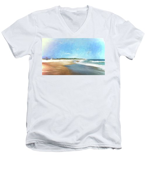 Day At The Beach Men's V-Neck T-Shirt