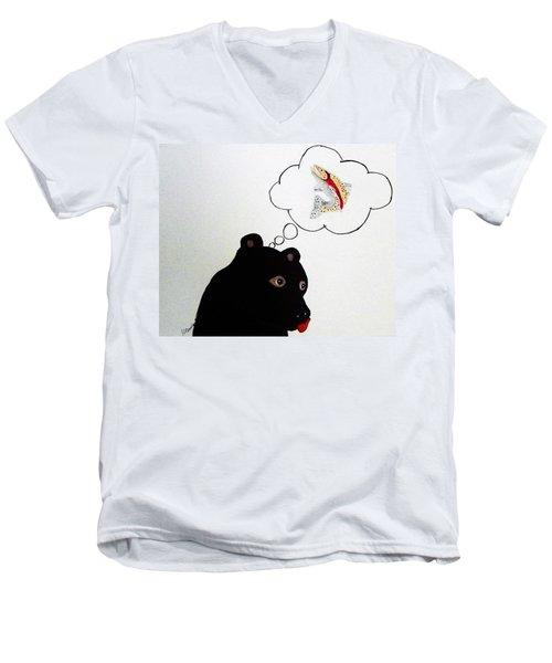 Day Dreaming Of Lunch Men's V-Neck T-Shirt by Joseph Frank Baraba