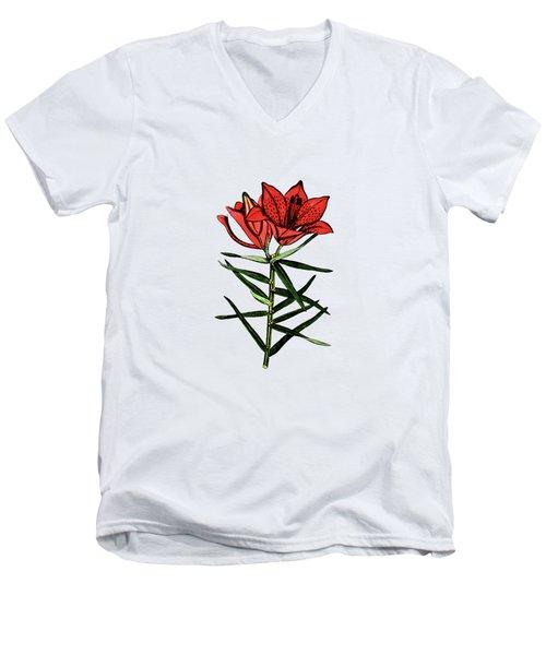 Day Lilly Men's V-Neck T-Shirt