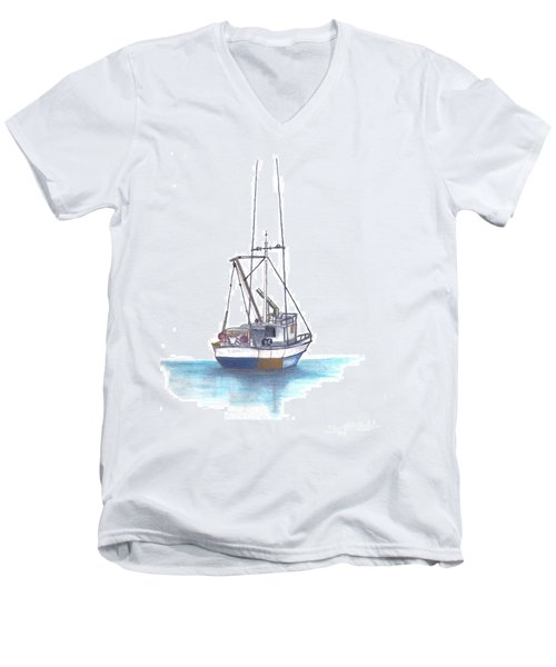 Days End Men's V-Neck T-Shirt by Terry Frederick