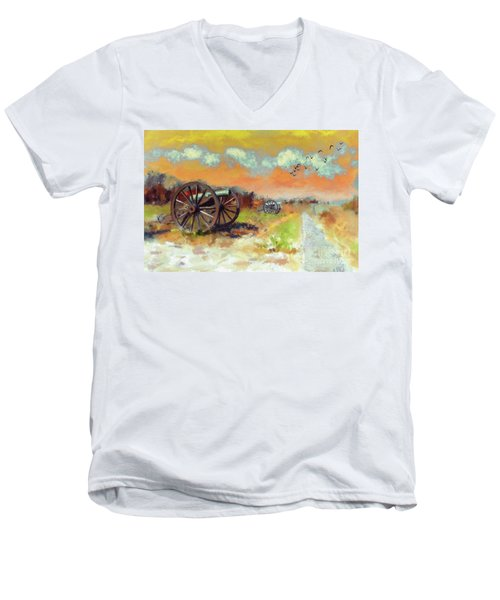 Men's V-Neck T-Shirt featuring the photograph Days Of Discontent by Lois Bryan