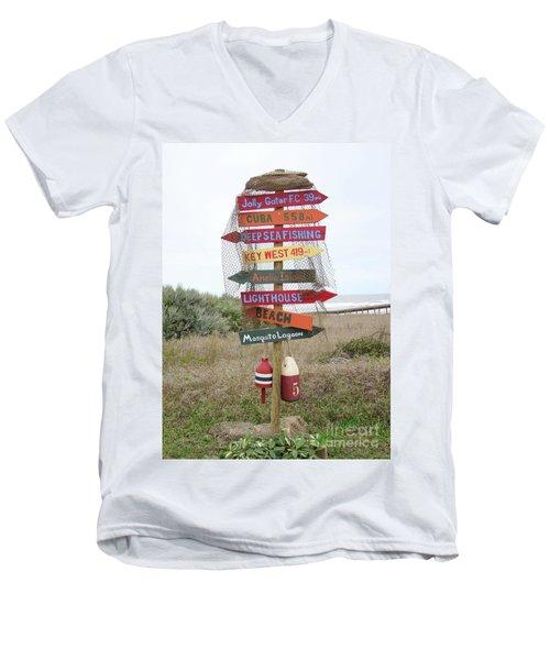 Daytona Crossroads Men's V-Neck T-Shirt