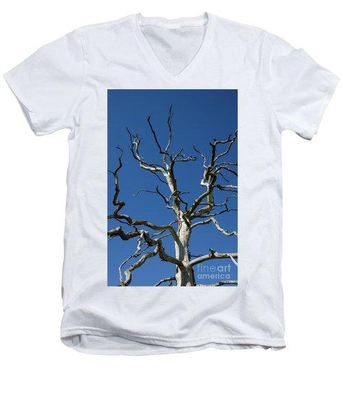 Dead Oak Tree Men's V-Neck T-Shirt by Kennerth and Birgitta Kullman