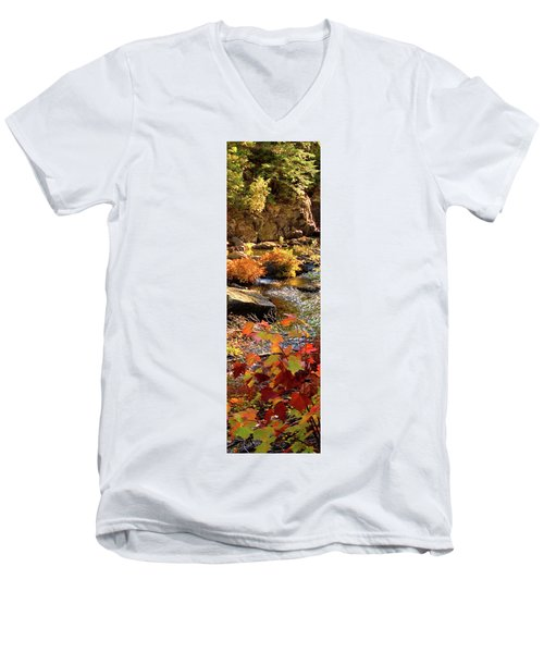 4 Of 6 Dead River Falls  Marquette Michigan Section Men's V-Neck T-Shirt