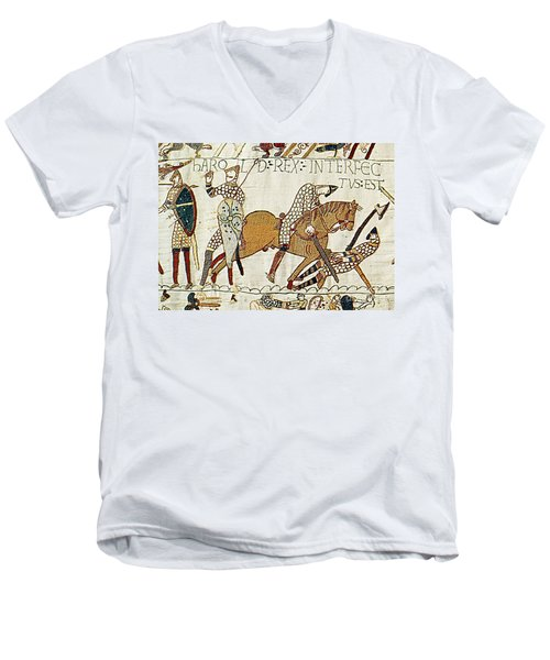 Death Of Harold, Bayeux Tapestry Men's V-Neck T-Shirt
