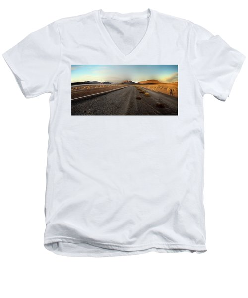 Death Valley Hitch Hiker Men's V-Neck T-Shirt